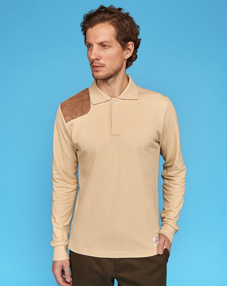 Beige Polo T-Shirt